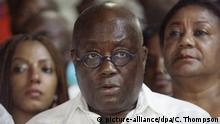 epa05668436 Ghanaian opposition leader of the New Patriotic Party (NPP) Nana Akufo-Addo (C) speaks to the press soon after he was declared winner of the 2016 presidential election at his residence in Accra, Ghana, 09 December 2016. Ghana's Electoral Commission announced the result late 09 December that opposition leader Nana Akufo-Addo had won elections with 53.8 percent of the vote, beating President John Mahama. EPA/CHRISTIAN THOMPSON  