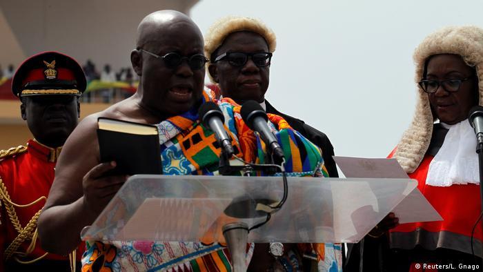 Afrika Ghana - Nana Akufo-Addo übernimmt das Amt des Präsidenten