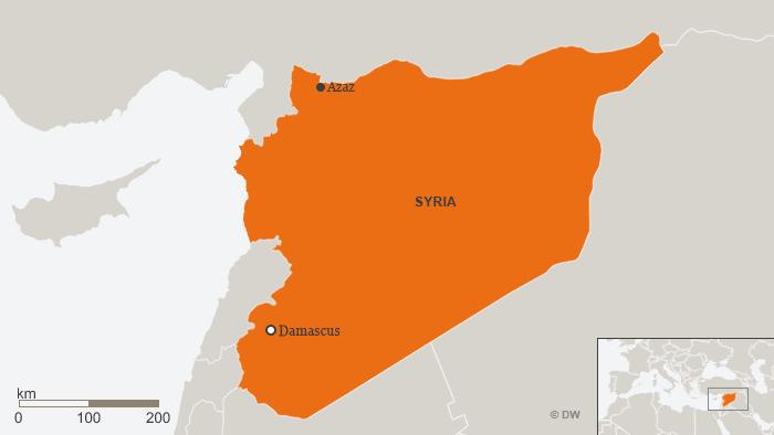 Syria Azaz map