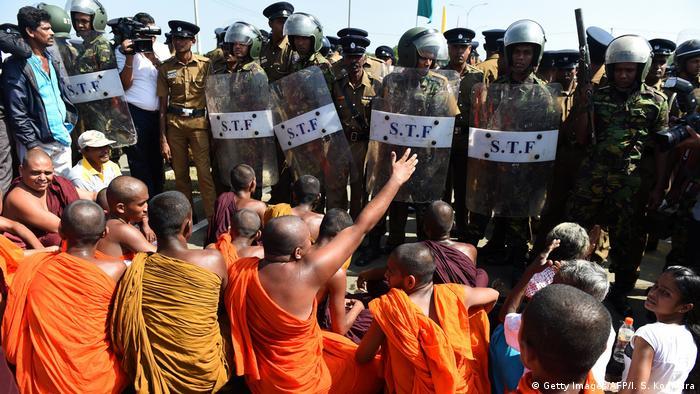Sri Lanka Port Protest