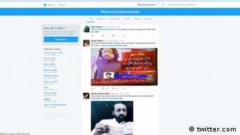 Screenshot Twitter #RecoverSalmanHaider