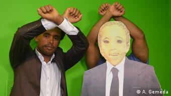USA -Fugera News Satireprogramm von EthioTube: Olympian Feyisa Lilesa mit Host