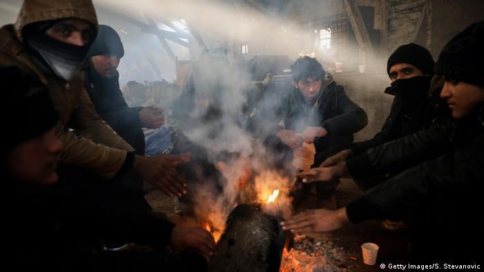 Serbien Flüchtlinge in Belgrad (Getty Images/S. Stevanovic)