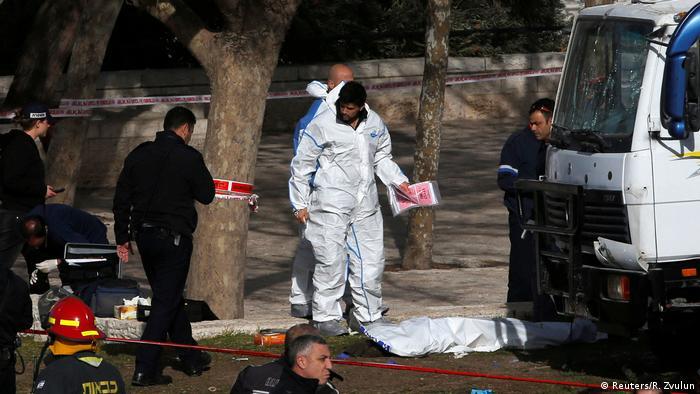 Israel LKW-Anschlag in Jerusalem (Reuters/R. Zvulun)
