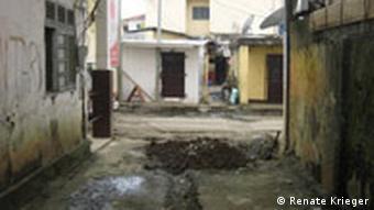 A slum in Malabo, Equatorial Guinea