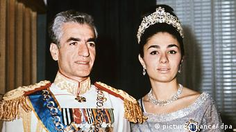 Shah Reza Pahlavi and his wife Farah Diba