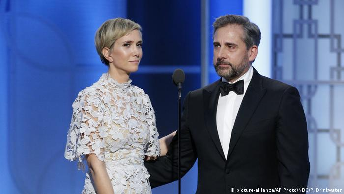 Golden Globes 2017: Kristen Wiig and Steve Carell (picture-alliance/AP Photo/NBC/P. Drinkwater)