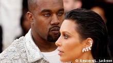 USA Kanye West und Kim Kardashian bei der Met Gala in New York