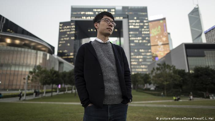 Hongkong Nathan Law, Mitglied der Partei Demosisto (picture-alliance/Zuma Press/C.L. Hei)
