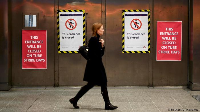 Großbritannien U-Bahn-Streik in London (Reuters/D. Martinez)