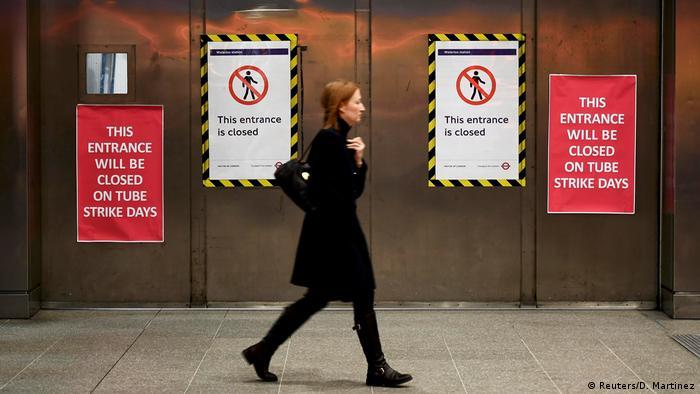 Großbritannien U-Bahn-Streik in London (Reuters/D. Martinez)
