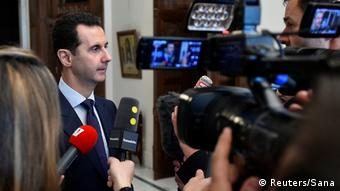Syrien Interview Bashar al-Assad mit französischen Journalisten in Damaskus