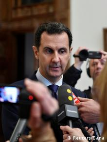 Syrien Interview Bashar al-Assad mit französischen Journalisten in Damaskus (Reuters/Sana)