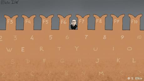 кариткатура Елкина о российских хакерах