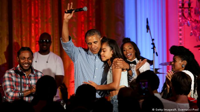 Barack Obama at the 18th birthday part of Malia Obama, 2016 (Getty Images/A. Guerrucci-Pool)