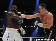 Klitschko punches Peter in their heavyweight fight