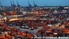 Deutschland Hamburg Hafen - Container Terminal Burchardkai (picture-alliance/dpa/A. Warmuth)