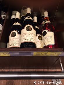 Deutschland Supermarkt Wein aus Mazedonien