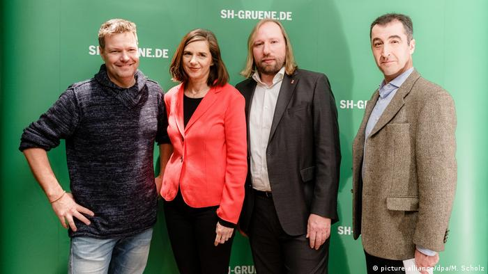 Green Party election candidates: Robert Haback, Katrin Göring-Eckardt, Anton Hofreiter and Cem Özdemir