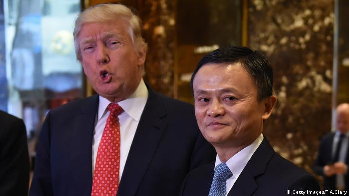 Donald Trump und Jack Ma