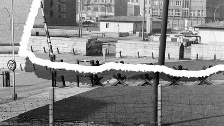 Archive photo before construction of Berlin wall