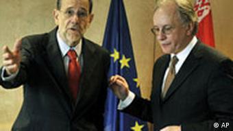 Генеральный секретарь Совета ЕС Х. Солана и глава МИД Беларуси С. Мартынов