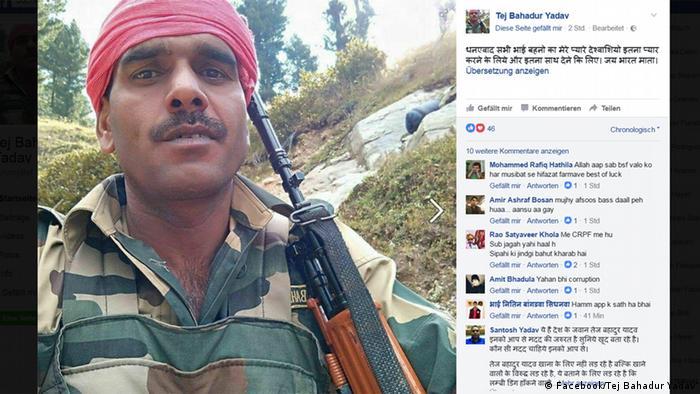 Facebook Tej Bahadur Yadav BSF