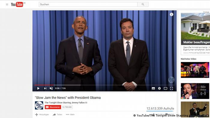 Screeshot YouTube - Barack Obama und Jimmy Fallon (YouTube/The Tonight Show Starring Jimmy Fallon )