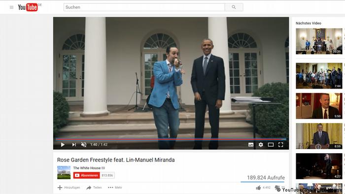 Obama and Lin-Manuel Miranda (YouTube/The White House)