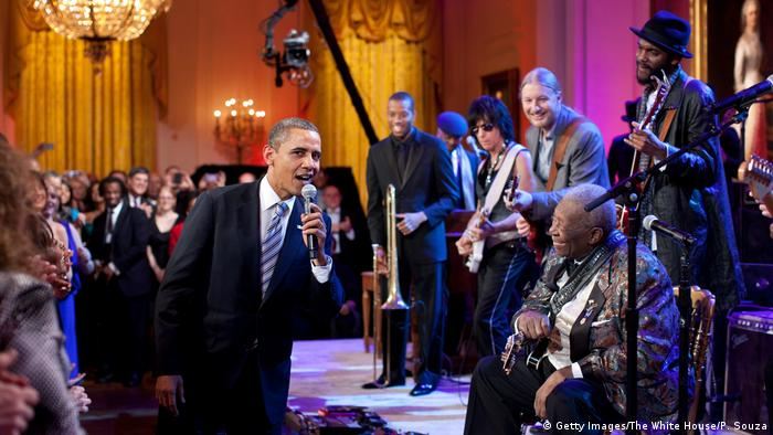 USA B.B. King zu Besuch im Weißen Haus (Getty Images/The White House/P. Souza)