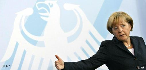 German Chancellor Angela Merkel holds a news conference after a meeting of her cabinet in Berlin