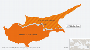 Κύπρος χάρτης νότιο και βόρειο τμήμα