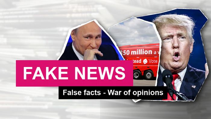 Picture Teaser Fake news False facts - War of opinions ENG