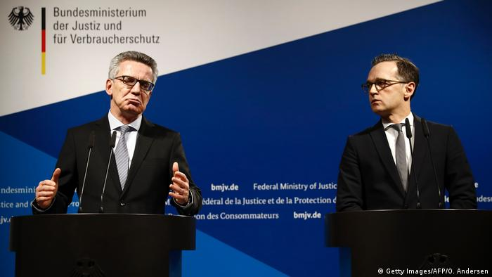 Press conference with Thomas de Maiziere and Heiko Maas