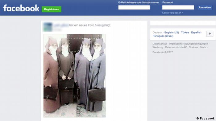 Facebook Screenshot Burka in Marokko (Facebook)