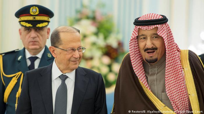 Saudi-Arabien Besuch Michel Aoun bei Salman bin Abulaziz Al-Saud in Riad (Reuters/B. Algaloud/Courtesy of Saudi Royal Court)