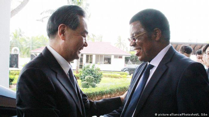 Foreign Minister Wang Yi with the Tanzanian prime minister last month. China has a strong focus on Africa.