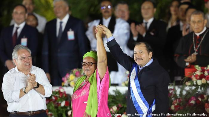 Nicaraguas Präsident Ortega tritt vierte Amtszeit an (picture alliance/Fotografia Prensa Miraflores/Prensa Miraflores/dpa)