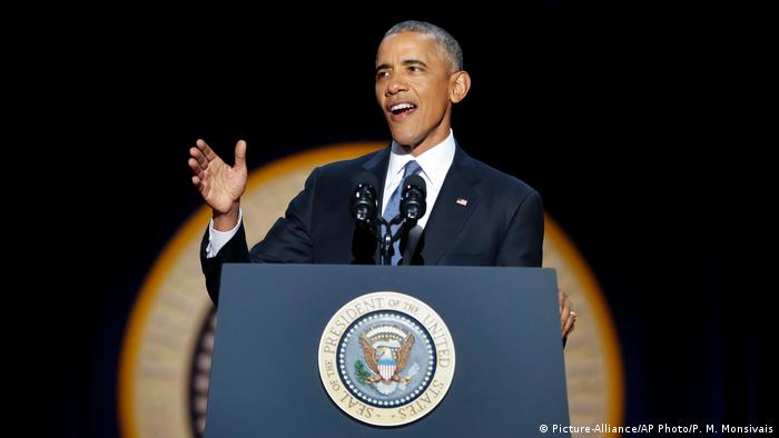 USA Präsident Barack Obama Abschiedsrede in Chicago (Picture-Alliance/AP Photo/P. M. Monsivais)