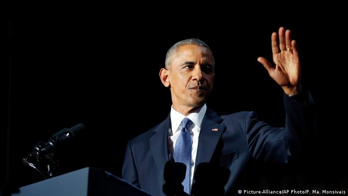 USA Präsident Barack Obama Abschiedsrede in Chicago (Picture-Alliance/AP Photo/P. Ma. Monsivais)