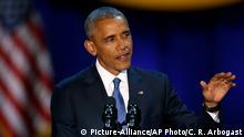 Obama hält Abschiedsrede als US-Präsident