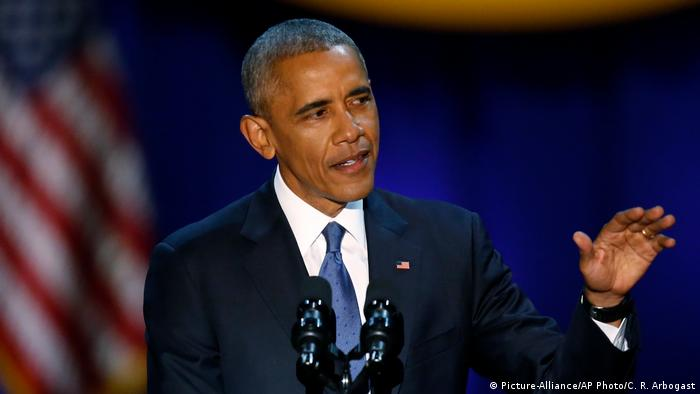 Obama hält Abschiedsrede als US-Präsident (Picture-Alliance/AP Photo/C. R. Arbogast)