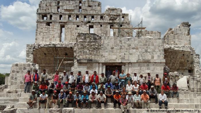 Grupo de arqueólogos de México y Alemania.