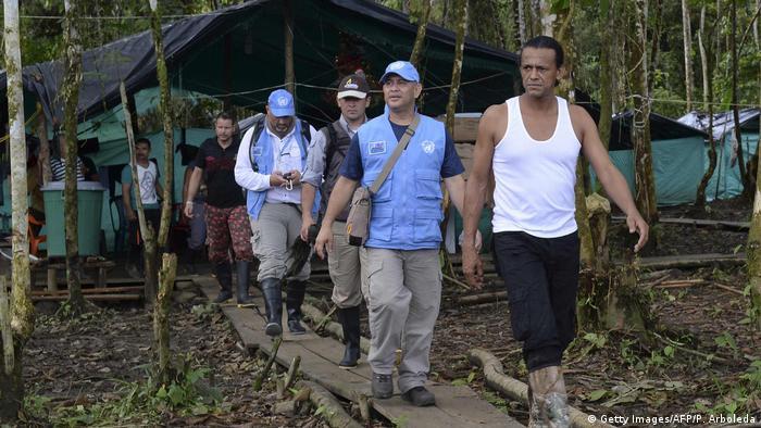 Kolumbien FARC Demobilisierungszone Lager Front 34 Alberto Martinez (Getty Images/AFP/P. Arboleda)