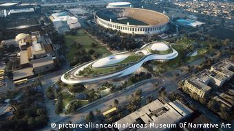 Aerial view of George Lucas' Museum of Narrative Art in Los Angeles (picture-alliance/dpa/Lucas Museum Of Narrative Art)