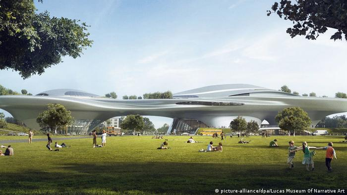 Design for George Lucas' Museum of Narrative Art in Los Angeles (picture-alliance/dpa/Lucas Museum Of Narrative Art)