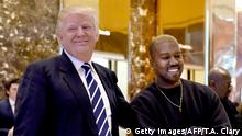 USA Donald Trump und Kanye West