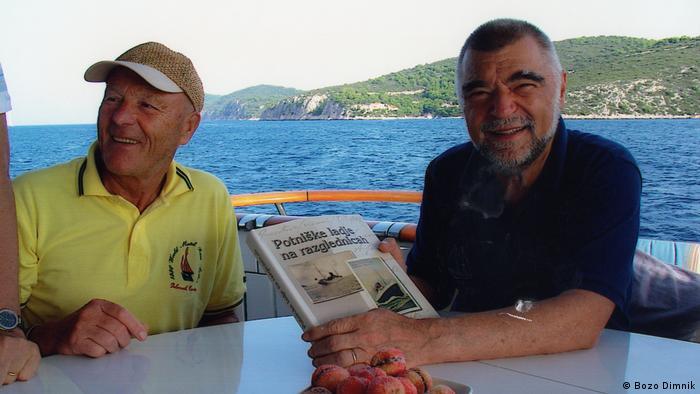 Kroatien Stipe Mesic mit Bozo Dimnik (Bozo Dimnik)