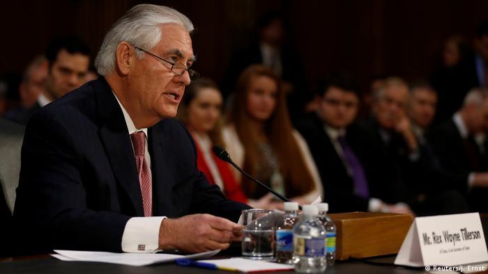 El designado secretario de Estado, Rex Tillerson, respondió las preguntas del Comité de Relaciones Exteriores del Senado.