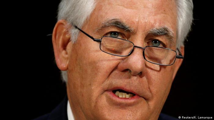 USA Befragung Senat - Rex Tillerson, designierter Außenminister (Reuters/K. Lamarque)